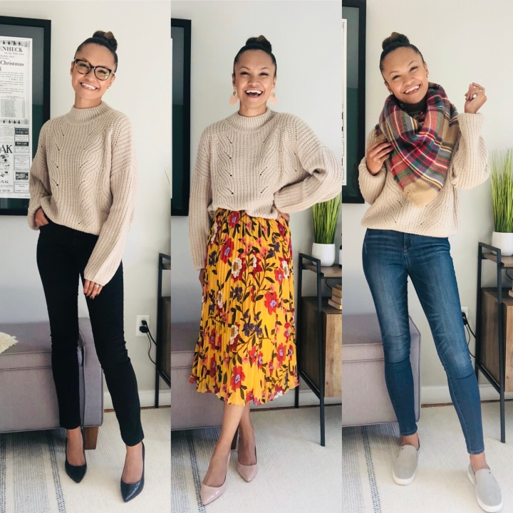 3 Ways to Style a NeutralSweater