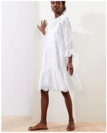 Eyelet Fit and Flare Dress_BRF